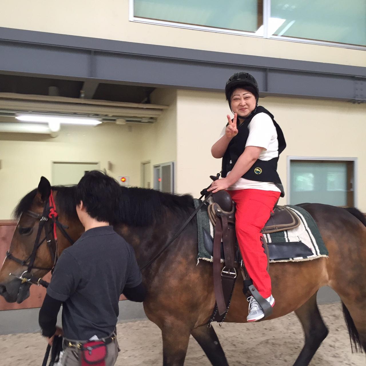 初めての乗馬