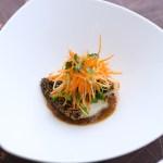 白身魚ソテー 野菜添え バルサミコ 玉ねぎ
