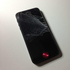 iPhone5落として割れた