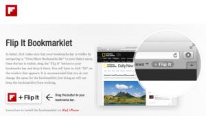 iPhone/iPadのSafaliからFlipboardに作ったオリジナルマガジンに簡単にFlip itする方法