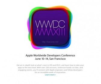 WWDC2013 Apple恒例のイベントリアルタイムで楽む