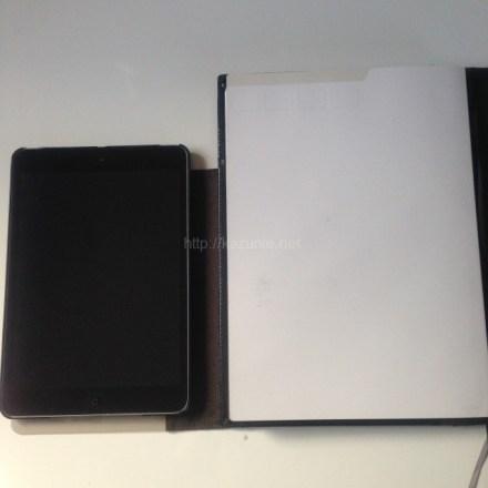 仕事効率化 iPadminiとノートの融合オリジナルカバーを自作してみた