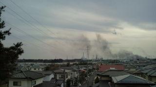 七ヶ浜汐見台あたり。七十七銀行七ヶ浜支店の東側あたりが津波被 害のようだ。