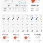 日本気象協会のアプリは見やすいな http://t.co/T5yVap4cXV