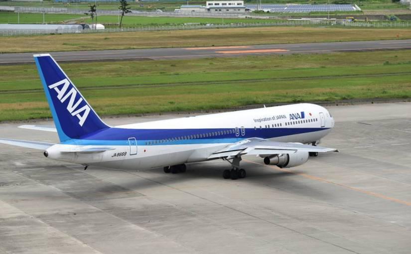 #仙台空港 #ANA #B767 やっぱり大きい。ただ、機齢が20年超え。