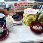 #かっぱ寿司 #食べ放題 腹痛の原因とは言えやしない。31皿、茶碗蒸し・プリン3つ、からあげ、味噌汁。しんだ。