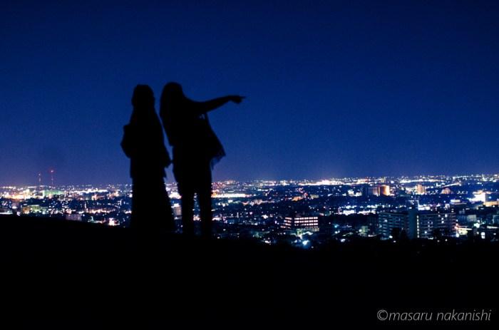 金沢・大乗寺丘陵公園からの夜景