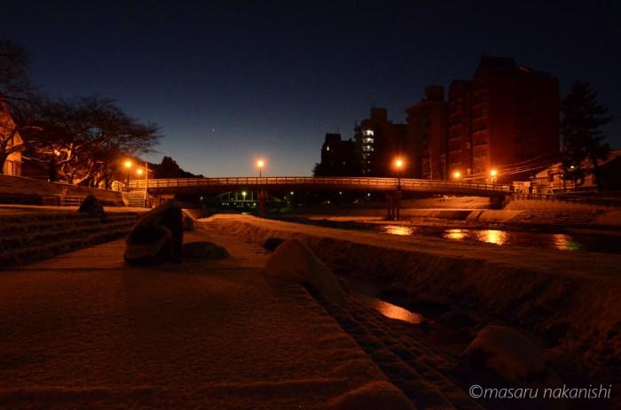金沢・浅野川梅の橋の夜