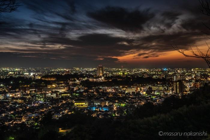 金沢・卯辰山からの夜景