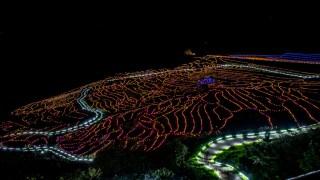 輪島の白米千枚田を彩るイルミネーション「あぜのきらめき」