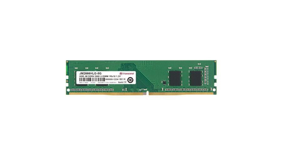 Transcend JetRam DDR4-2666 U-DIMM 8GB - 8 GB - 1 x 16 GB - DDR4 - 2666 MHz - 288-pin DIMM (JM2666HLG-8G) - Memóriák