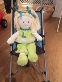 RAG DOLL 48 in her push chair