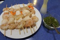 scallop-and-shrimp-brochettes-with-coriander-chili-butter-8