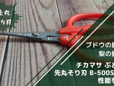 チカマサ ぶどう鋏先丸そり刃 B-500SLMF