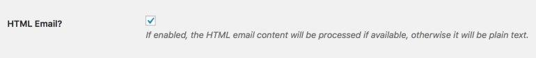 HTML or Plain Text