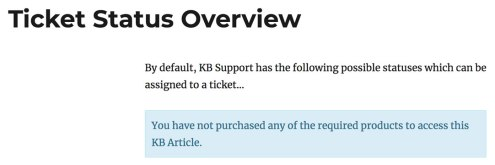 KB Article Access for Customers Only