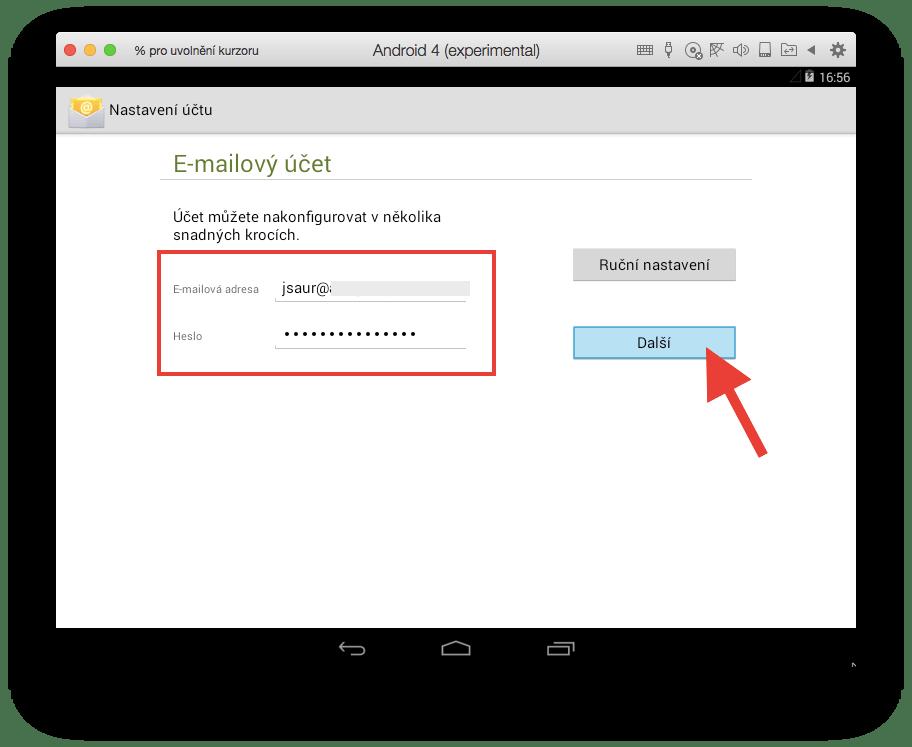Android - E-mailový účet