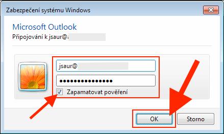 Outlook 2013 - Heslo