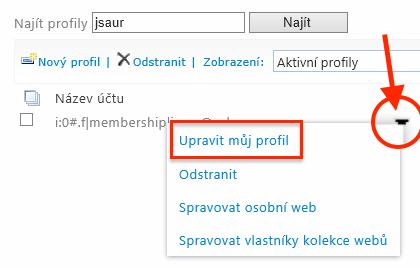 Office 365 - Upravit můj profil