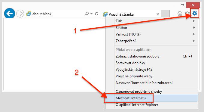 Internet Explorer - Možnosti