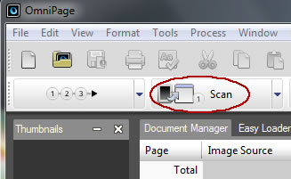Image of scan button