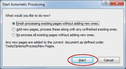 Image of start OCR button