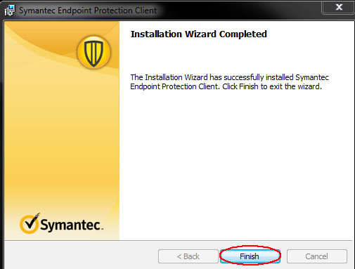 Image of installation wizard completed