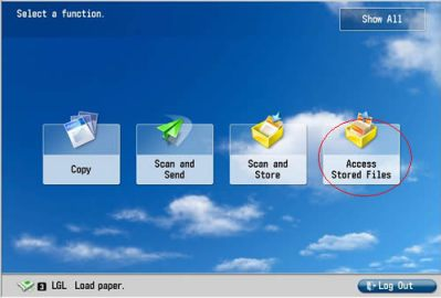 Image of Access Stored Files
