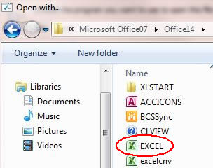 Image of Excel icon