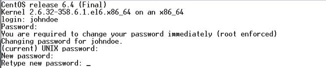Eterm New Linux User Set Password