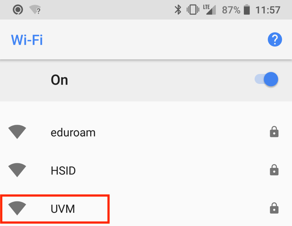 medium resolution of  after installing naming the certificate open your devices wi fi settings and select the uvm network