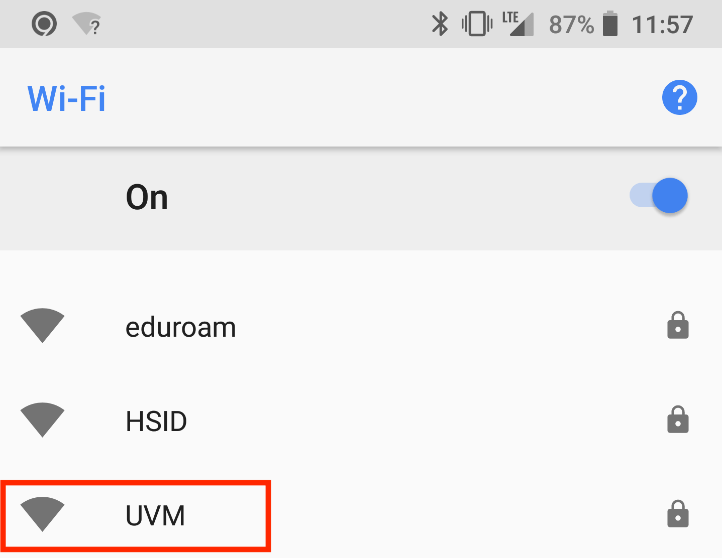 hight resolution of  after installing naming the certificate open your devices wi fi settings and select the uvm network
