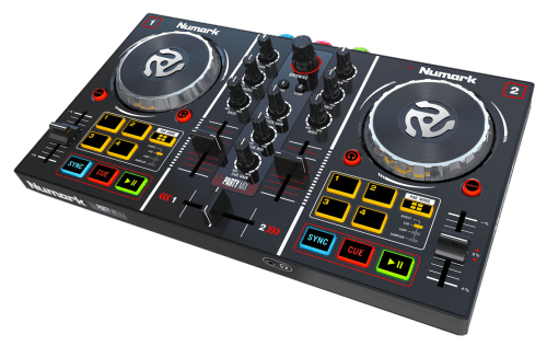 small resolution of no matter what your skill level you can get any party started with the party mix this is an amazing dj controller that connects directly to your laptop and