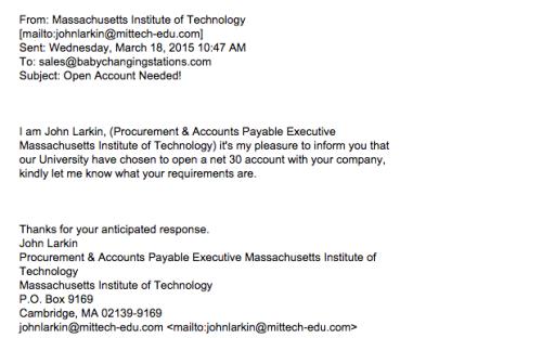 sample phishing email 3