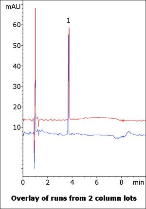 Lidocaine Gel Assay Chromatogram