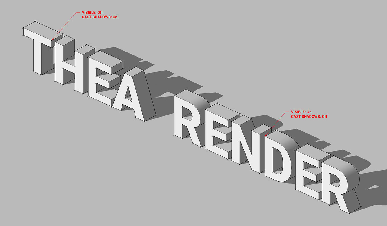 Thea for SketchUp Flags: Visible and Cast Shadows » Thea