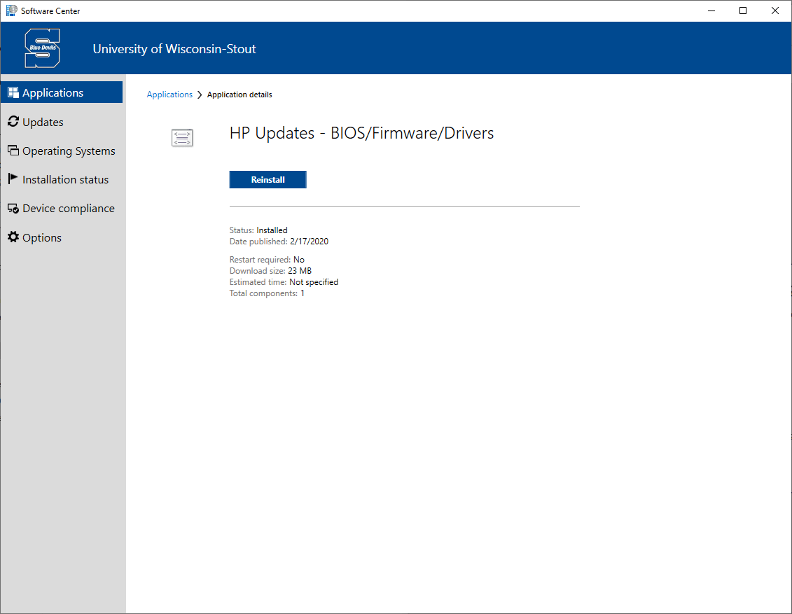 HP BIOS/Firmware/Driver Updates for Staff