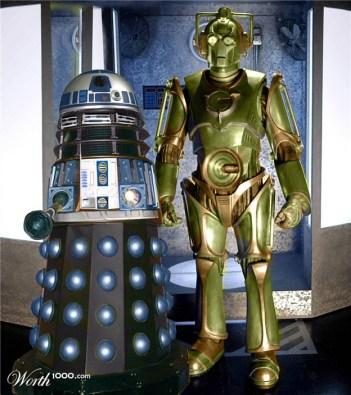 R2Dalek2 and Cyber3PO