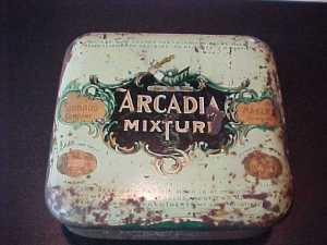 """Коробка из-под смеси """"Аркадия"""". Год неизвестен."""