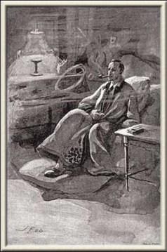 Illustration by the Czech artist Josef Friedrich in Dobrodruzstvi detektiva Sherlocka Holmesa 1906