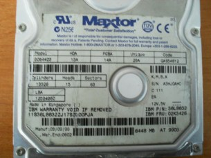 HDD Maxtor 9064403 6448 MB - 1999 год