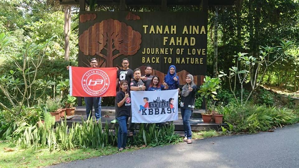 8 Blogger KBBA9 Ke Tanah Aina Fahad, Raub, Pahang