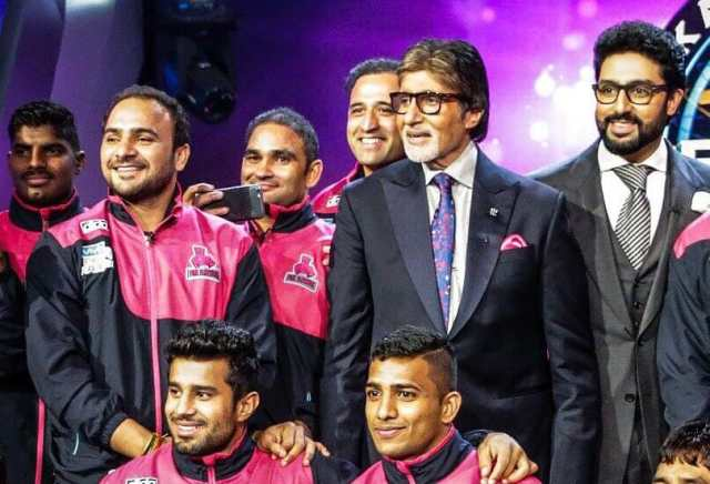 Jaipur Pink Panthers‏ on the KBC Hotseat and Abhishek Bachchan