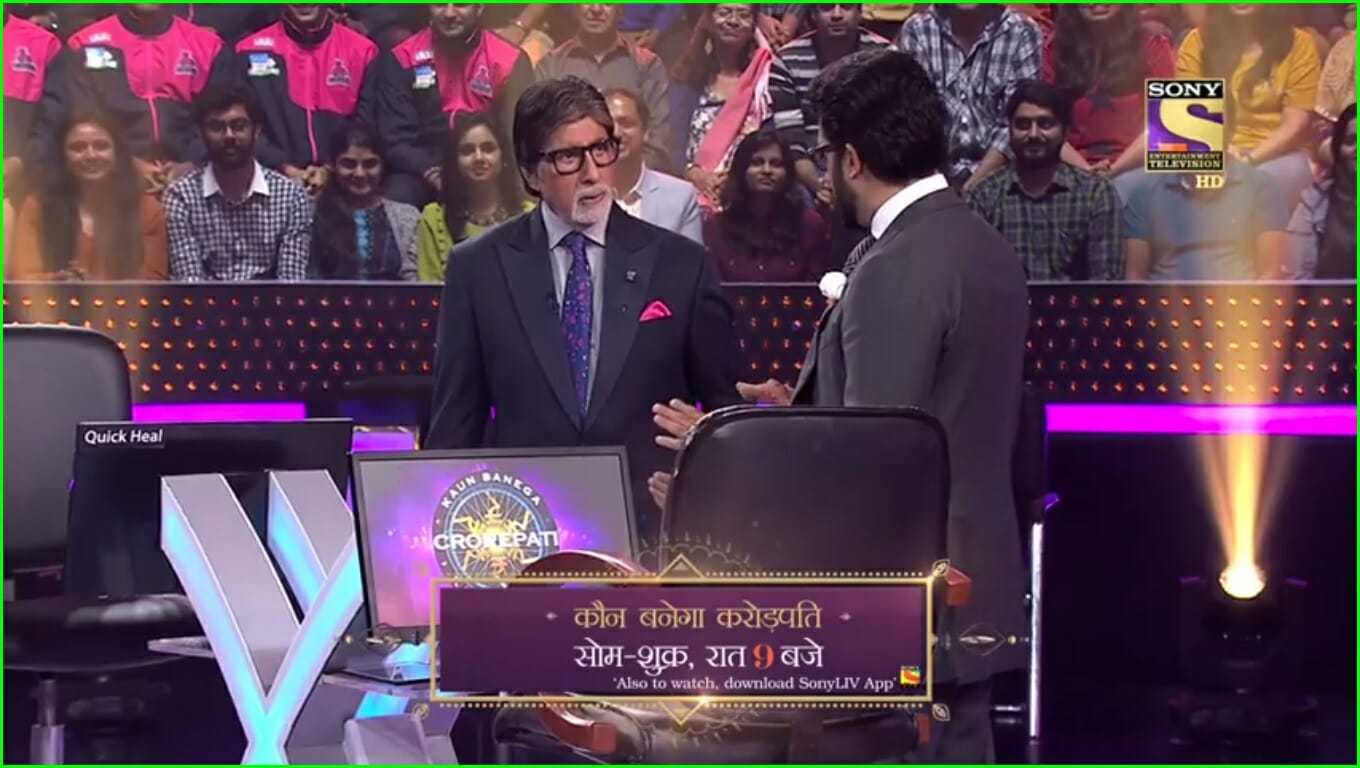 amitabh and abhishek bachchan on the hotseat
