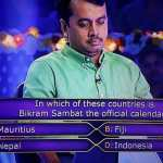 Ques In which of these countries is Bikram Sambat the official calendar