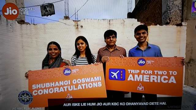 Trip to America KBC Jio Play along winner