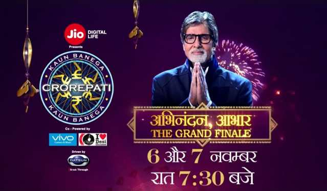 KBC Grand Finale on 6 and 7 November at 7:30 PM on Sony TV