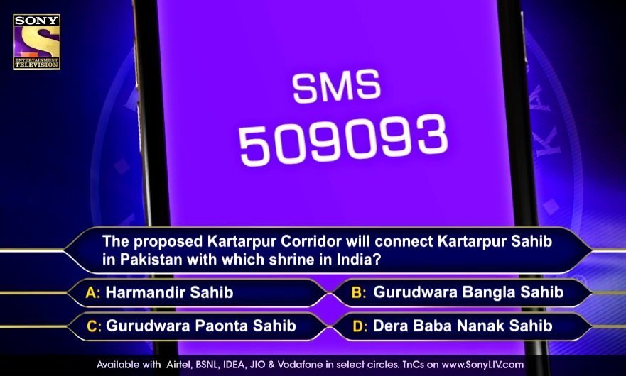 KBC registration question answer 4 2019 season 9