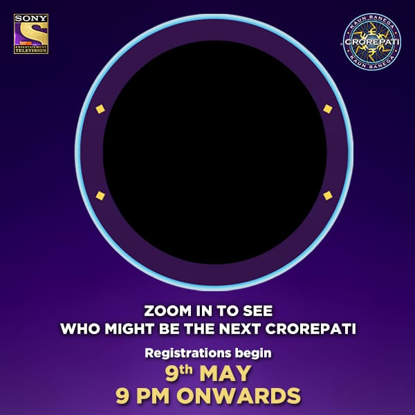 Look carefully within the black circle to find the next prospective Crorepati! KBC Registration Starting.