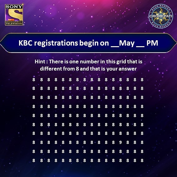 Succeed in finding out the date and time when KBC 12 registrations begin?